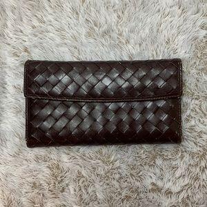 Lodis Woven Leather Tri-fold Wallet